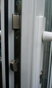 PVCu replacement windows hook bolt locking mechanism on a PVCu door