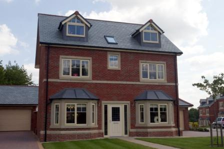 Change colour of existing PVCu windows - Cream composite windows
