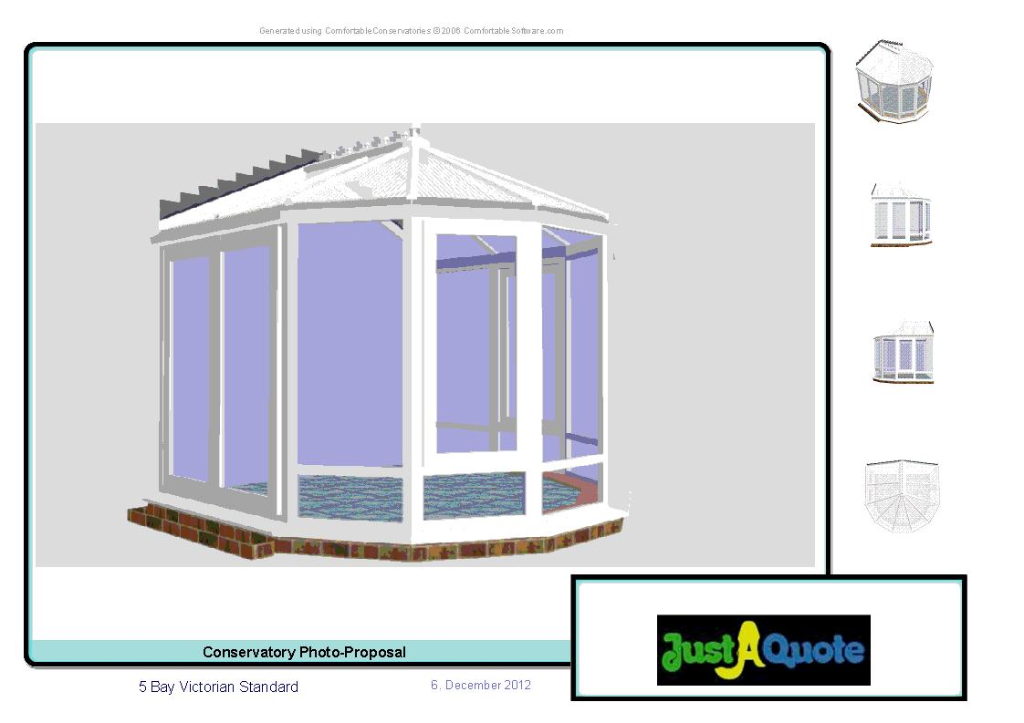 Victorian Conservatories - Computer Generated Image - Five Facet Victorian Conservatory