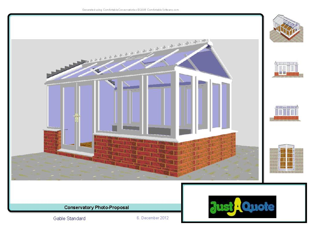 Gable Conservatories - Computer Generated Image