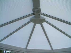 Opal polycarbonate in a Victorian conservatory