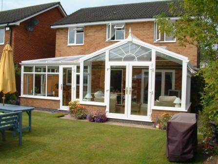 Gable Conservatories - P shaped gable conservatory