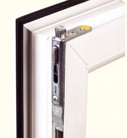 PVCu replacement windows with a shoot bolt locking mechanism