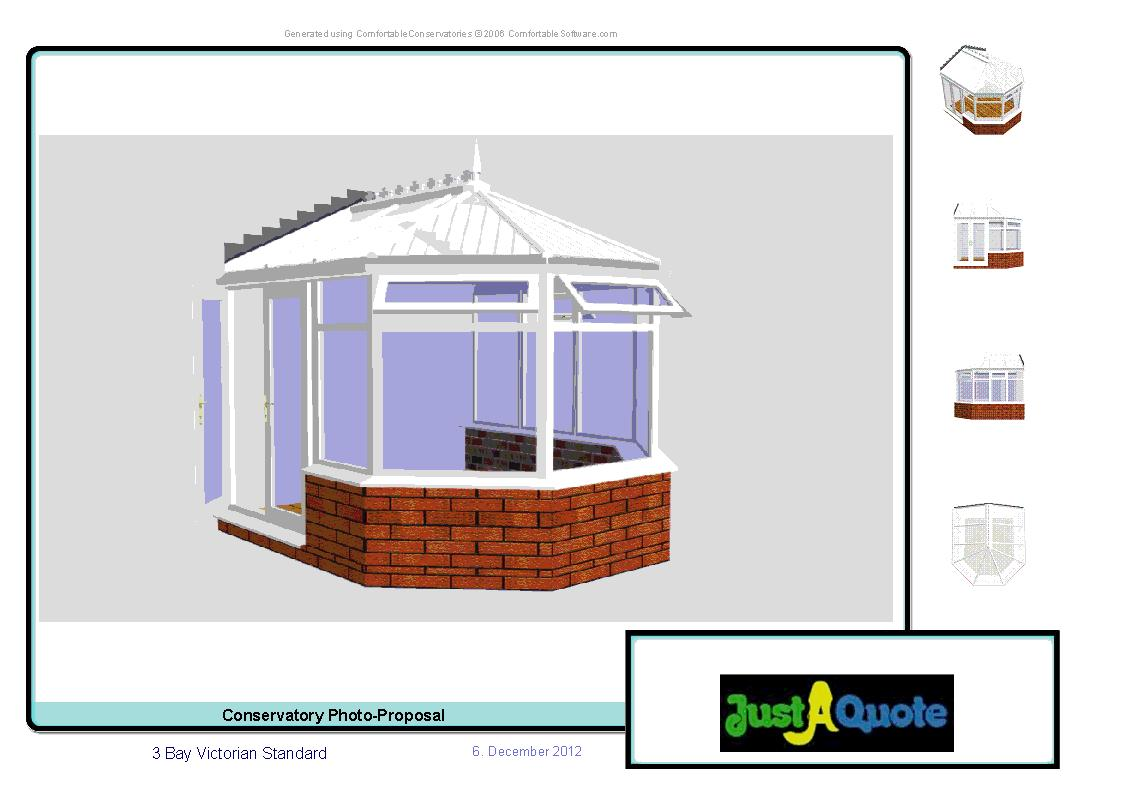 DIY Conservatories - Computer Generated Image - Three Facet Victorian conservatory