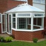 DIY Conservatory Prices - White uPVC Three Facet Victorian conservatory