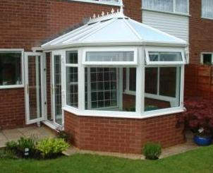 DIY Conservatories - The completed conservatory - Three Facet Victorian conservatory