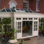 DIY Conservatories - Orangery in white painted hardwood with Georgian glazing