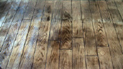 Imprinted concrete colours & patterns - hardwood floor