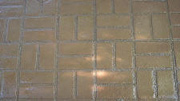 Imprinted concrete colours & patterns - new brick basket weave