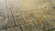 Imprinted concrete colours & patterns - random ashlar stone