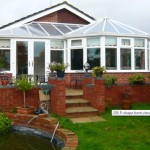 DIY Conservatory Prices - White uPVC P Shape conservatory
