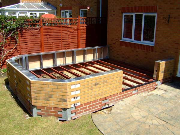 DIY Conservatory Prices - Durabase modular wall is fixed to the steel base