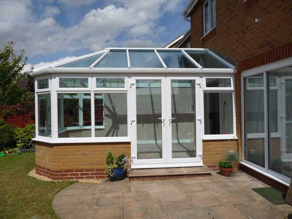 DIY Conservatory Prices - The finished K2 Konnect conservatory on the Durabase base works and dwarf wall system