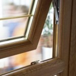 PVCu windows: casement window with open top vent
