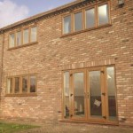 PVCu Doors - Light oak French doors