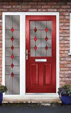 Change colour of existing PVCu doors - Red composite door