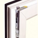 PVCu windows: showing locking mechanism