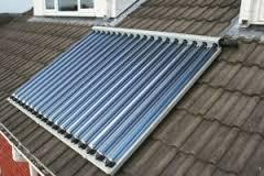 Solar thermal water heating systems - evacuated tubes
