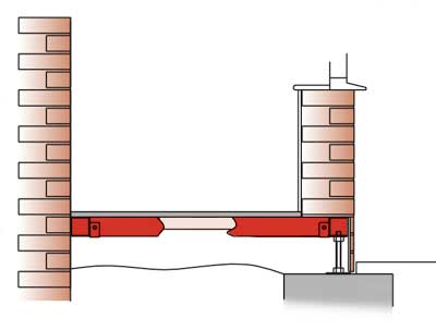 Durabase cross section with a base wall