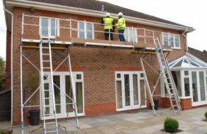 Installation of uPVC Roofline products using Easi-Dec access equipment