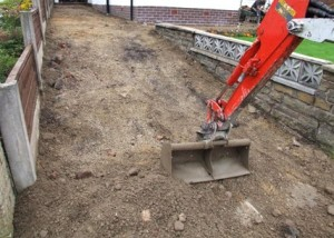 Imprinted concrete installation - Excavation of domestic driveway