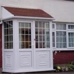 Georgian style porch with PVCu panels