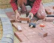 Block paving installation - laying the blocks