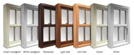PVCu sliding sash windows - colours
