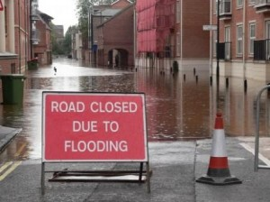 Planning permission for driveways - Road closed due to flooding