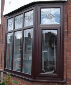 PVCu bay & bow windows - Rosewood PVCu bay window