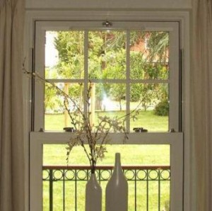 PVCu sliding sash windows - Sliding sash internal view