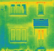 FENSA - thermal image of a house with A rated double glazing