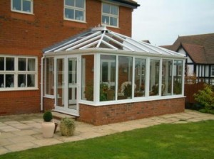 PVCu double doors on an Edwardian conservatory