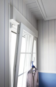 PVCu tilt & turn windows - showing a tilt and turn window tilting in to the room
