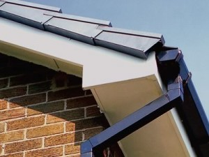 uPVC Roofline products showing soffit, fascia, gutter, barge board and dry verges