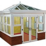 DIY Conservatories - Orangery style conservatory from Synseal with base wall