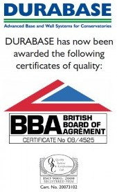 DIY Conservatory Prices - Durabase BBA Certificate
