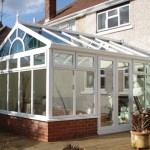 DIY Conservatory Prices - White uPVC Gable front conservatory
