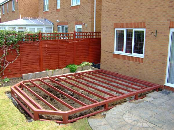 DIY Conservatory Prices - Steel base is fixed onto concrete pads and levelled